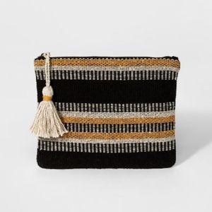 NWT Striped Pouch - Universal Thread™ Black